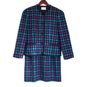 Pendleton 100% Virgin Wool Vintage Skirt Suit